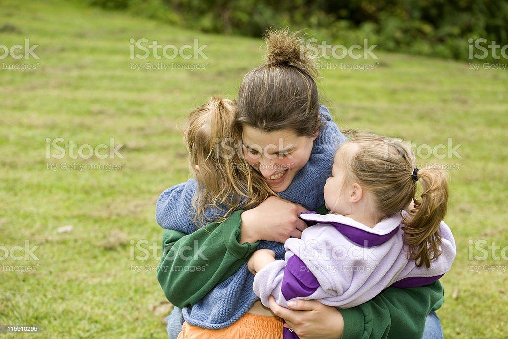 Hugging royalty-free stock photo