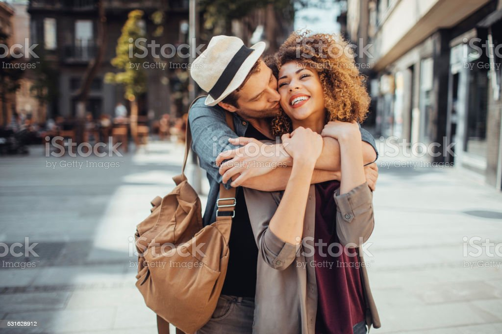 Hugging stock photo