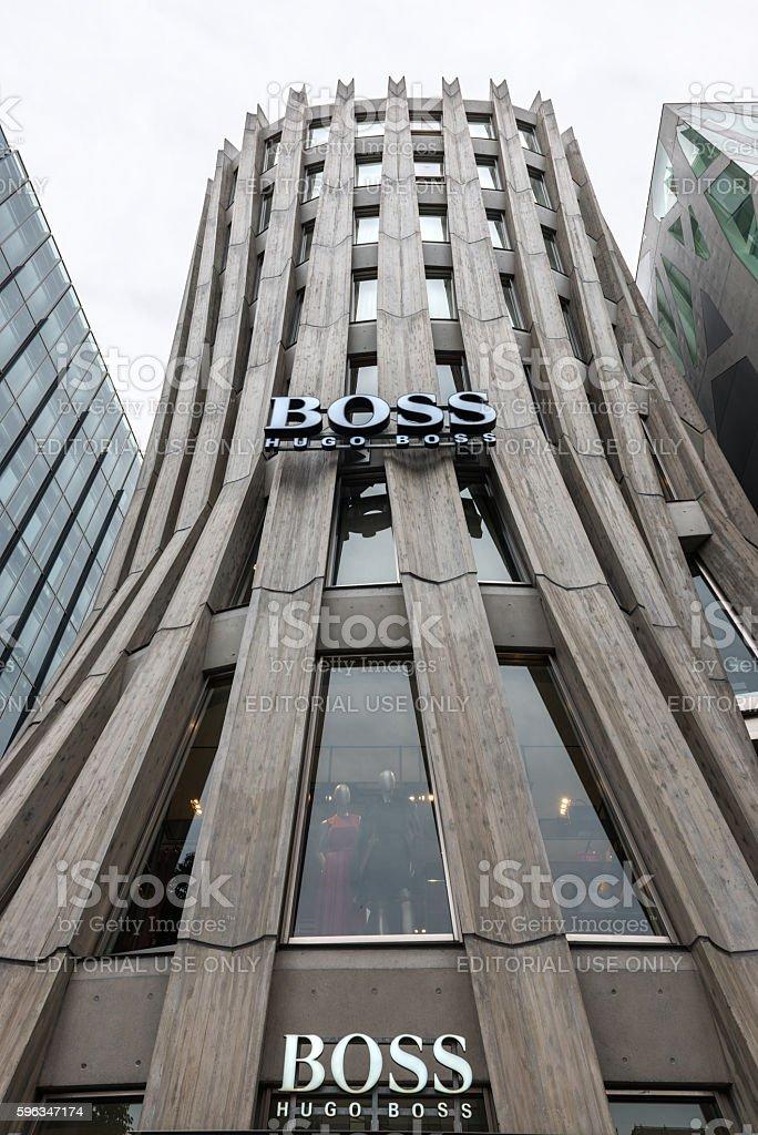 Hugo Boss building in Omote-sando, Tokyo Lizenzfreies stock-foto