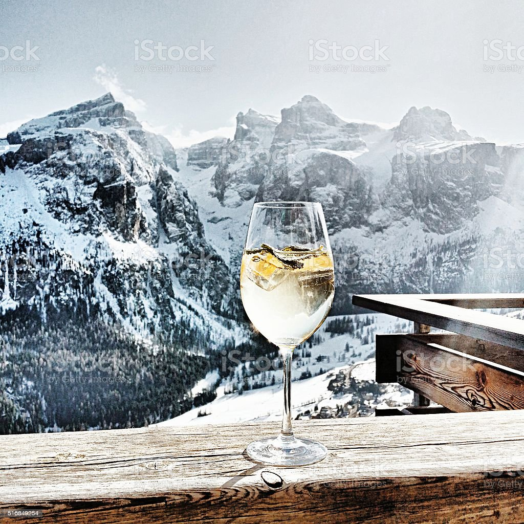 hugo Dolomites stock photo