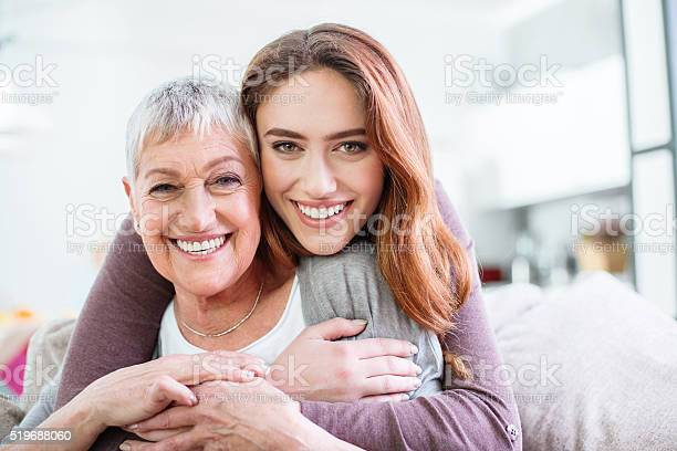 Hugs For Mom Stock Photo - Download Image Now
