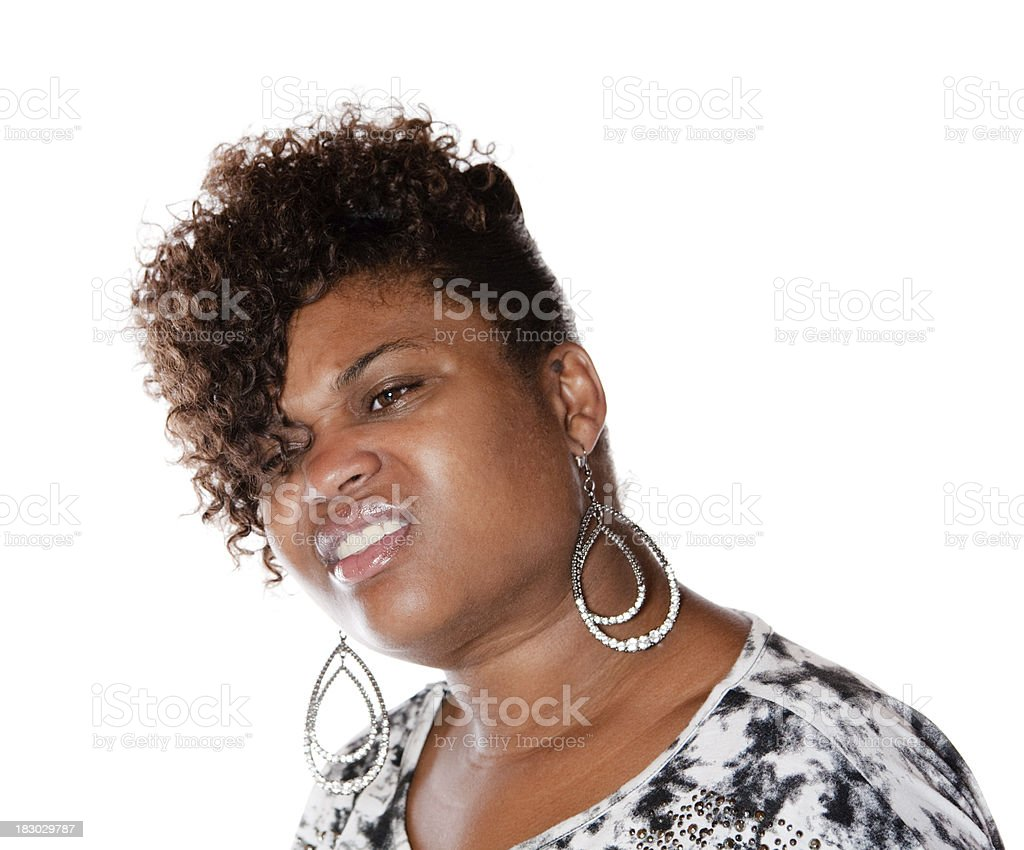 Huh?  Confused woman royalty-free stock photo