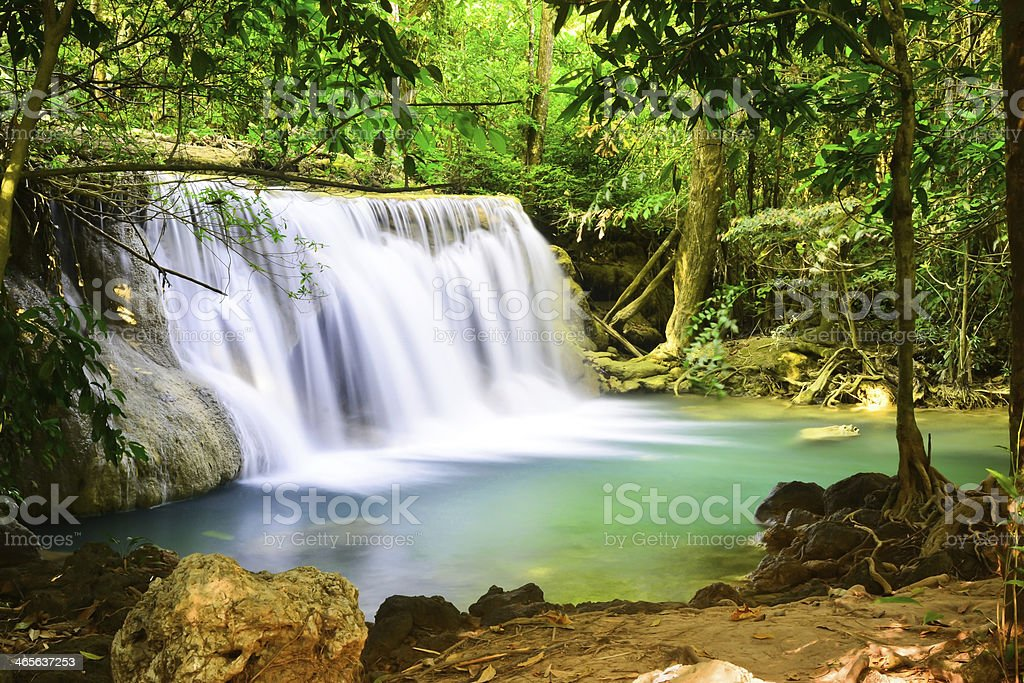 Hui Mae Khamin waterfall royalty-free stock photo