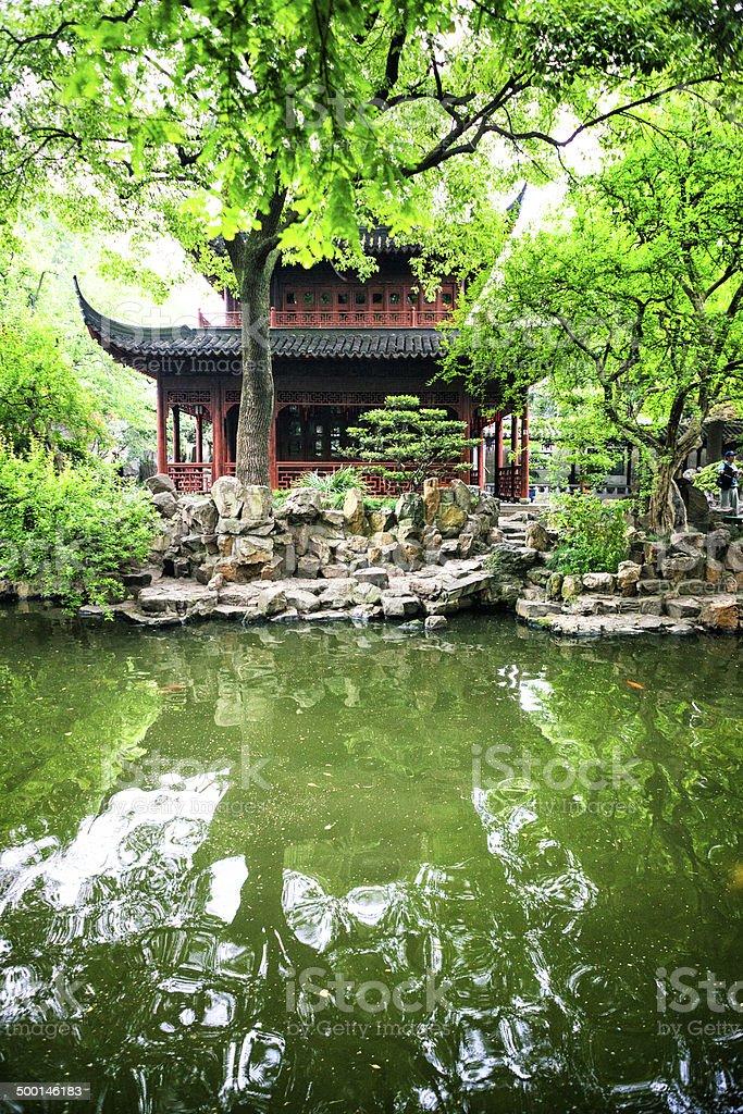 Huijing Tower at Yu Yuan Gardens in Shanghai, China stock photo