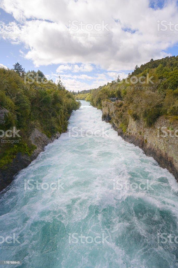 Huka Falls New Zealand royalty-free stock photo