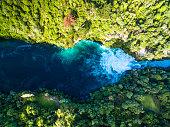 Aerial view of Huka Falls, Taupo / New Zealand