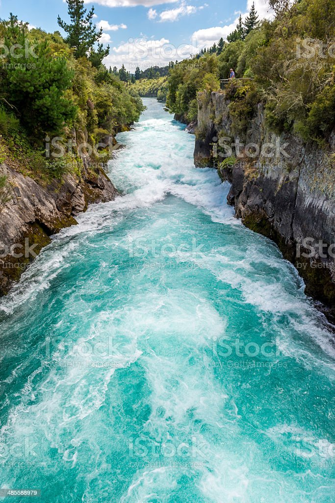 Huka Falls - Taupo, New Zealand stock photo