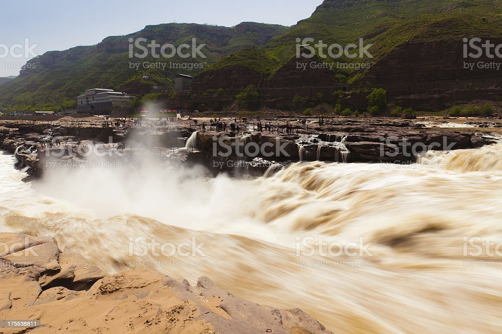 Hukou Waterfall on the Yellow River stock photo