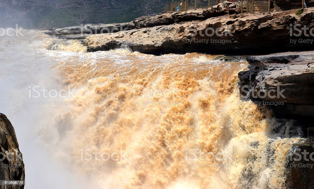 Hukou waterfall, Shaanxi, China stock photo