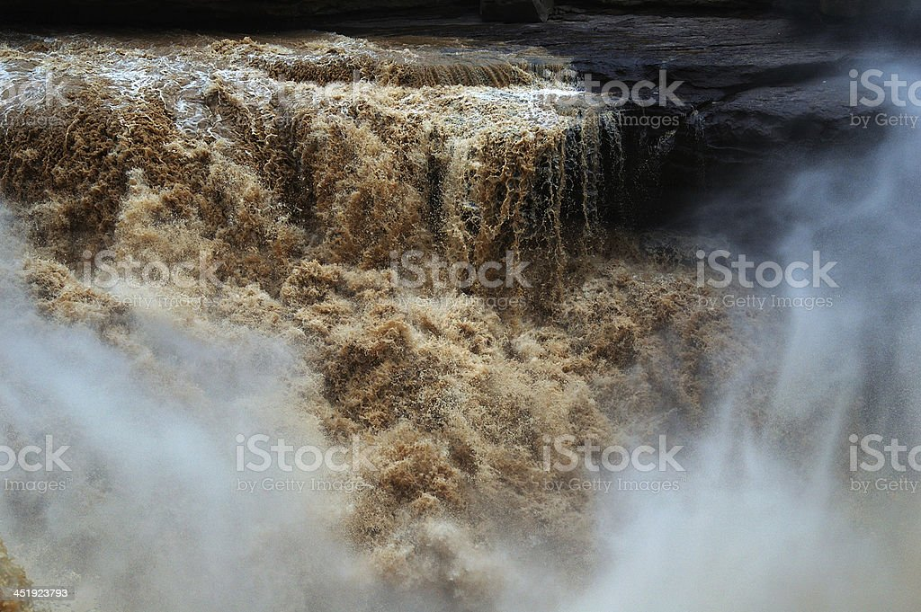 Hukou Waterfalls (Kettle Spout Falls) royalty-free stock photo