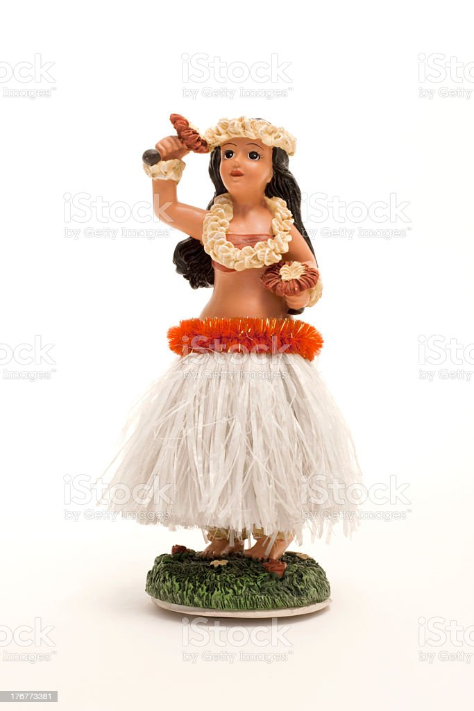 Hula dancer bobble car trinket stock photo
