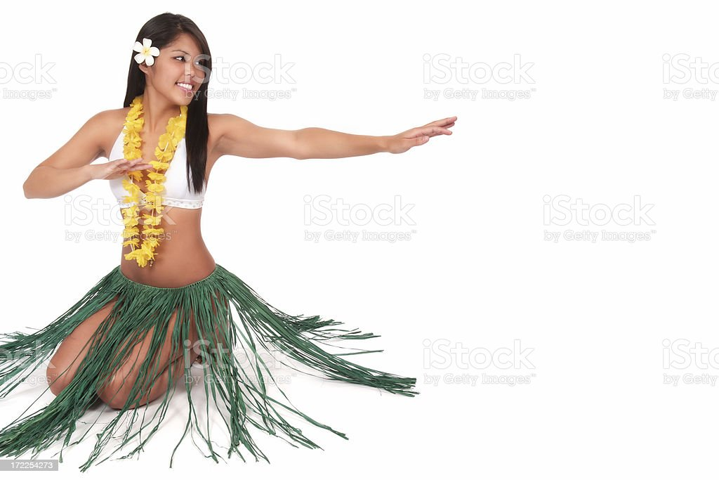 Hula Dancer with Copy Space royalty-free stock photo