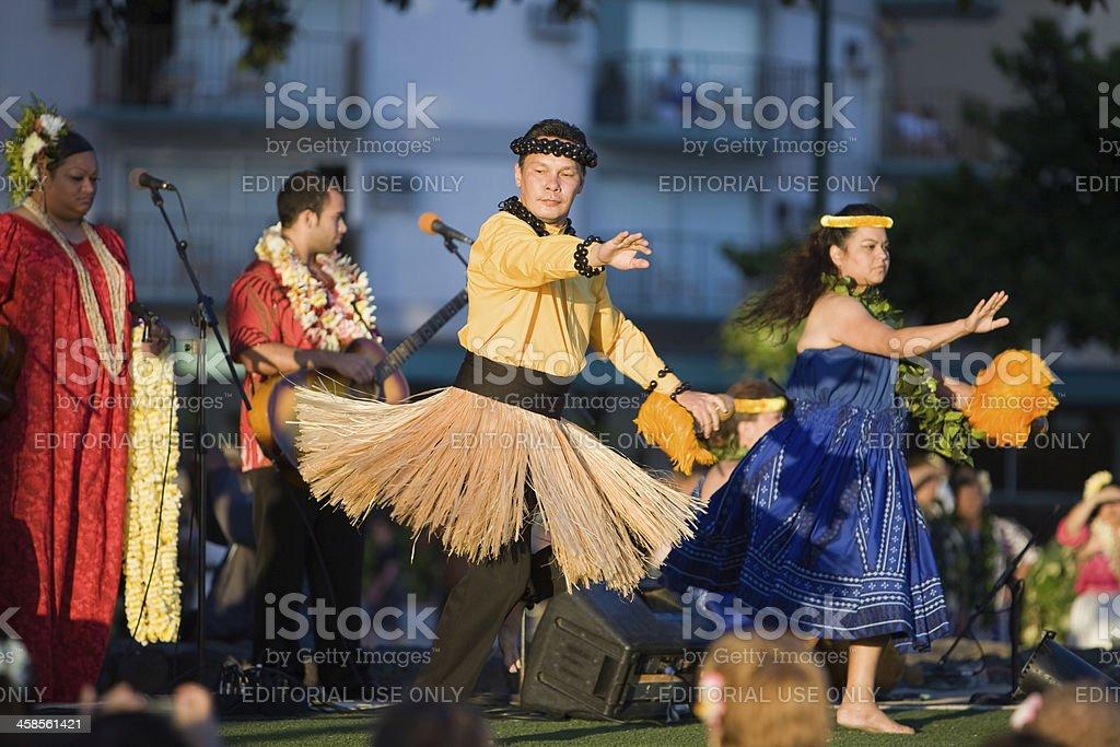 Hula Dancers Demonstration stock photo