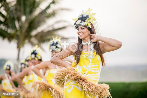 Polynesian Hula Dancers performing in Hawaii