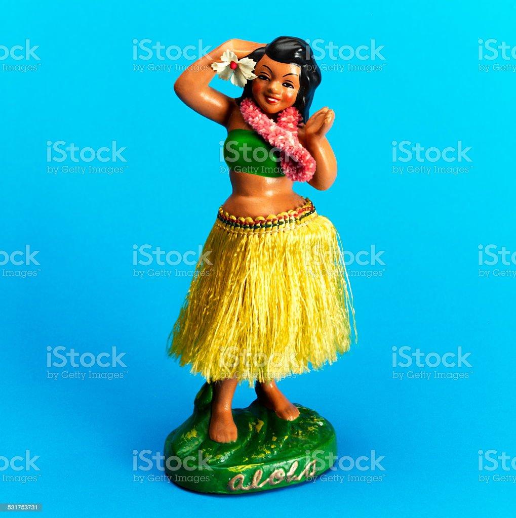 Hula Dancing Woman stock photo