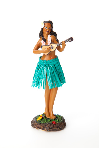 Hula Doll isolated on a white background