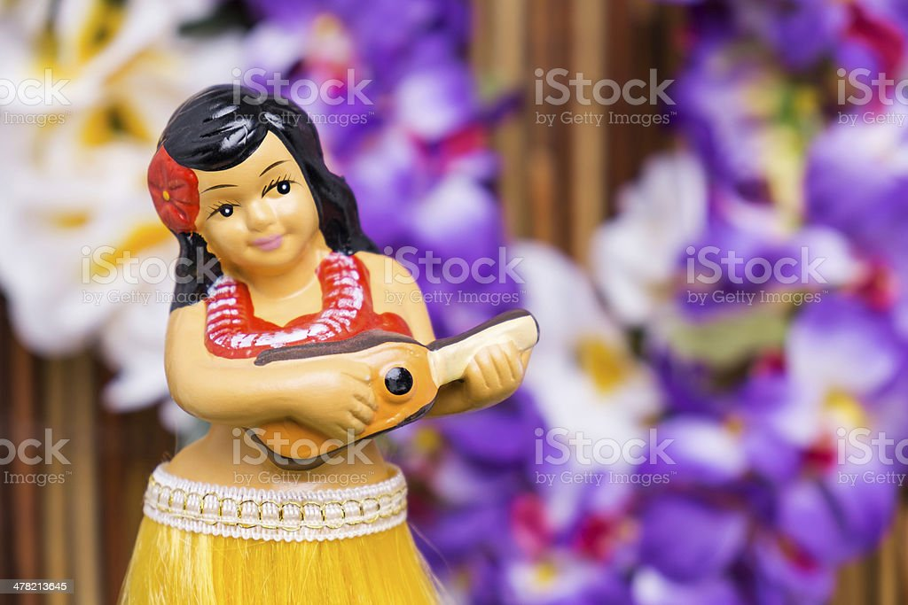 Hula Girl Doll stock photo