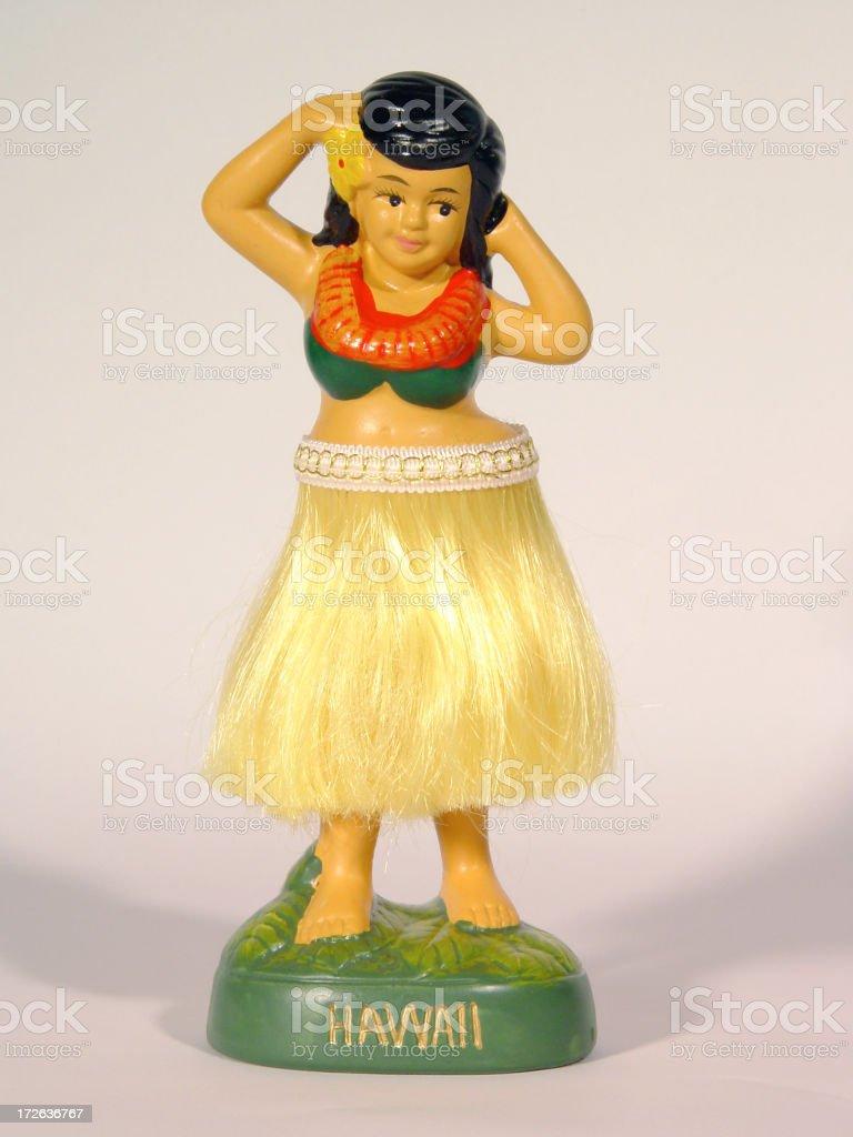 Hula Girl stock photo