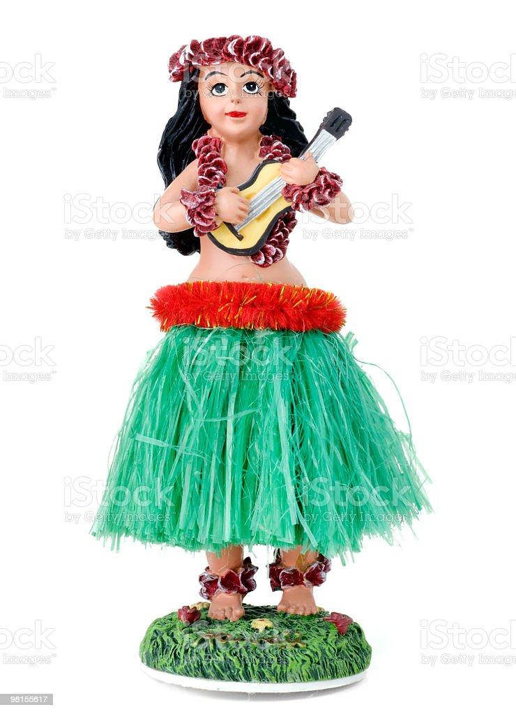 Hula Girl stock photo