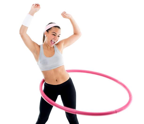 hula-hoop - hula hoop workout stock-fotos und bilder