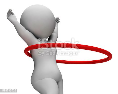 Hula Hoop Meaning Get Fit And Fitness 3d Rendering