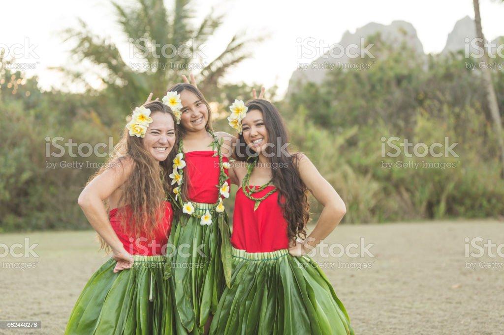 Hula Rehearsal! royalty-free stock photo