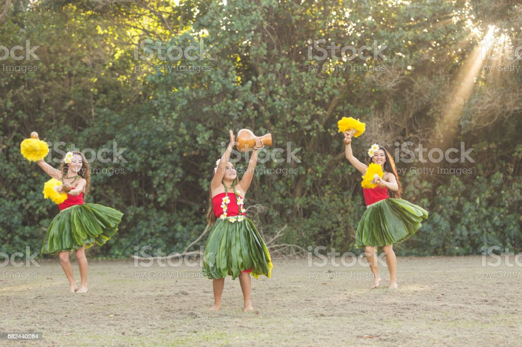 Hula Rehearsal! royalty-free stock photo