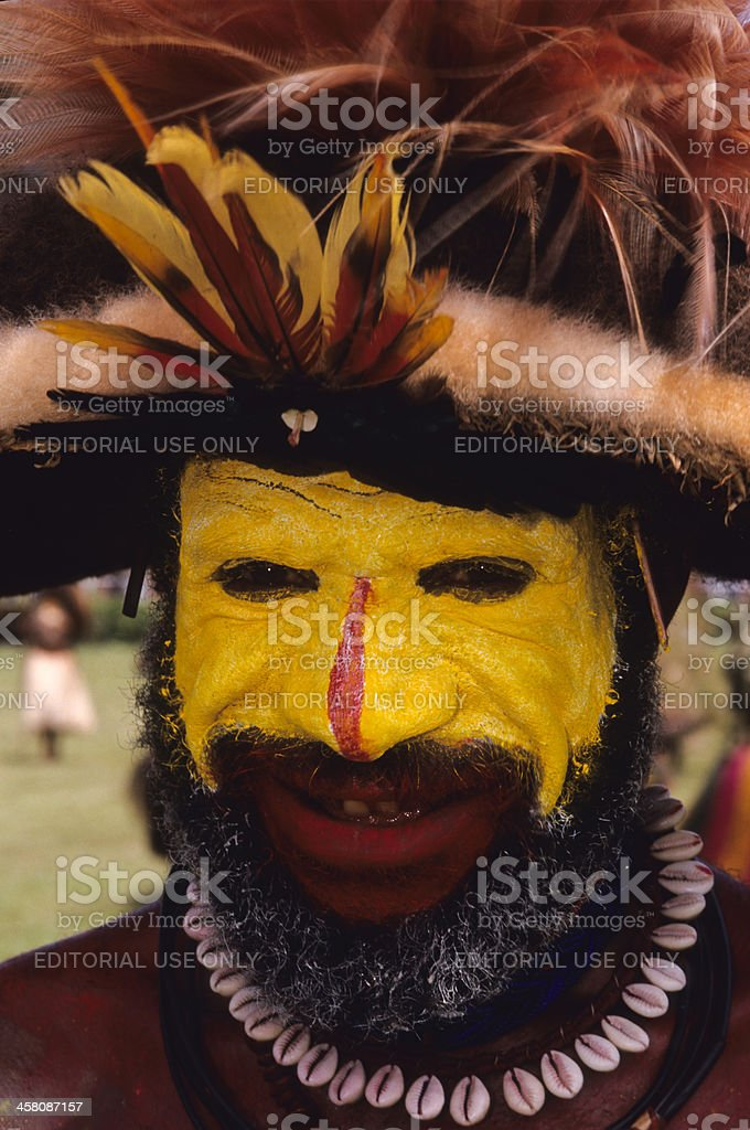 Huli Wigman royalty-free stock photo