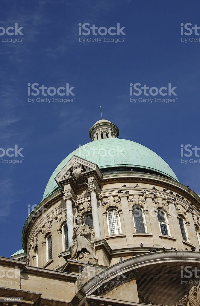 Hull City Hall Dome and Spire royalty-free stock photo