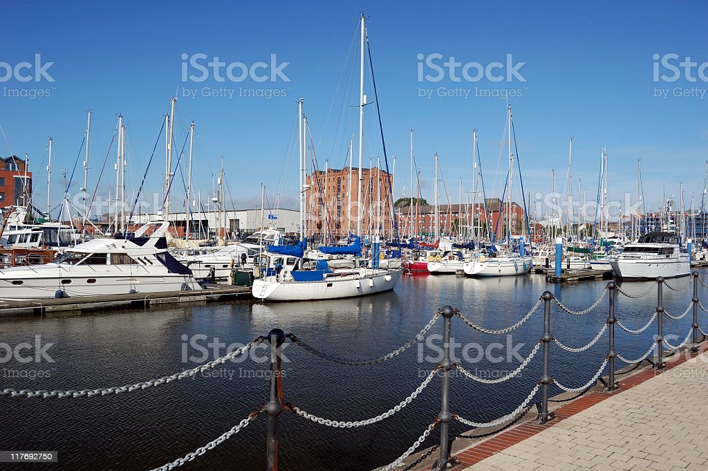 Hull Marina stock photo