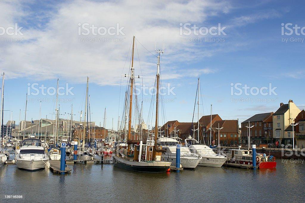 Hull Marina royalty-free stock photo
