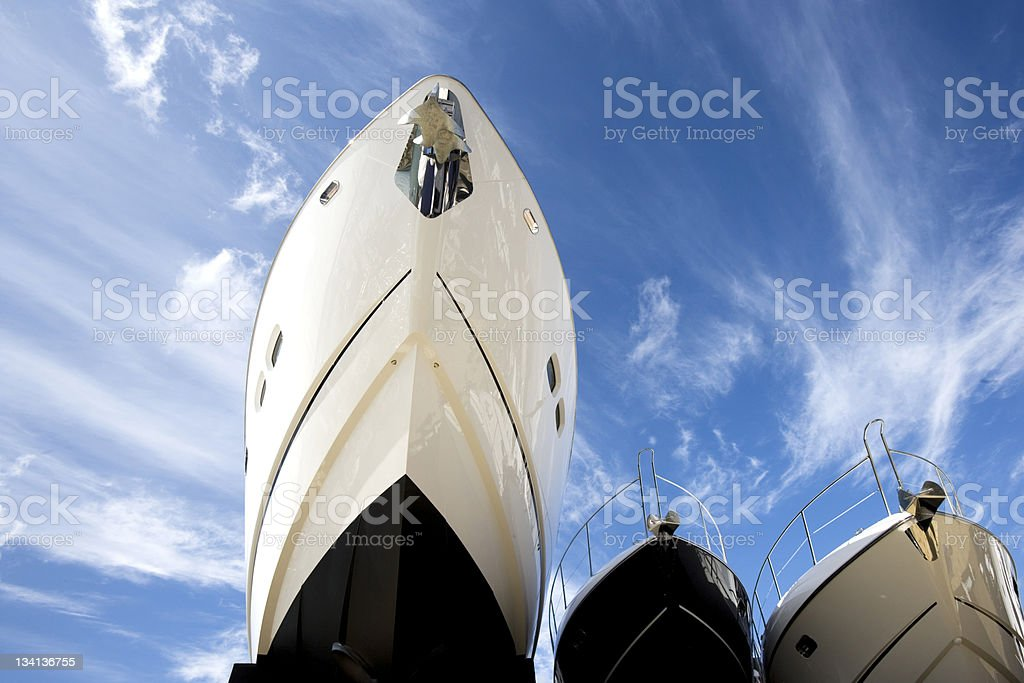 Hulls Of Yachts stock photo