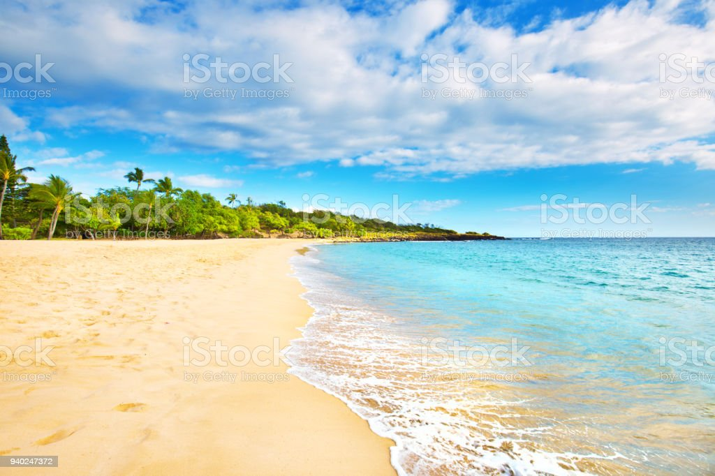 Hulopoe Beach of Lanai Island in Hawaii - foto stock