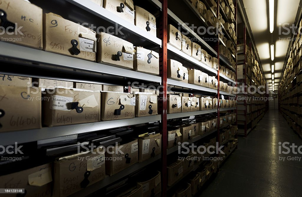 Hulton Archive boxes. stock photo
