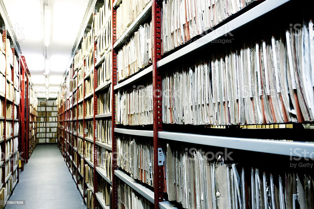 Hulton Archive filing. stock photo