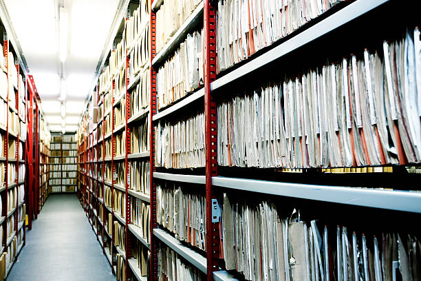Hulton Archive filing. stock photo
