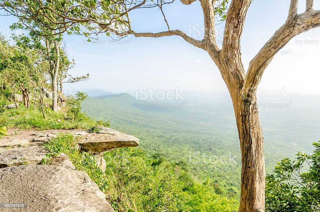 Hum - Hod Cliff, Chaiyaphum, Thailand stock photo