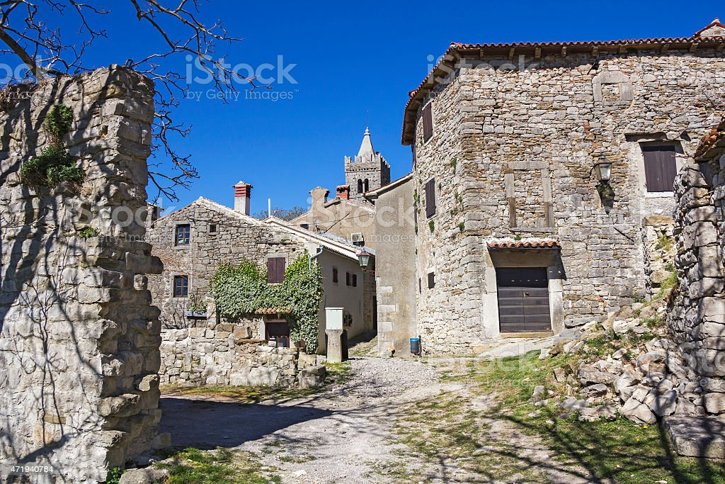 Hum the smallest town in the world stock photo