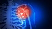 istock Human Anatomy In Futuristic Medical Interface. X-ray of Human Body. 1209255578