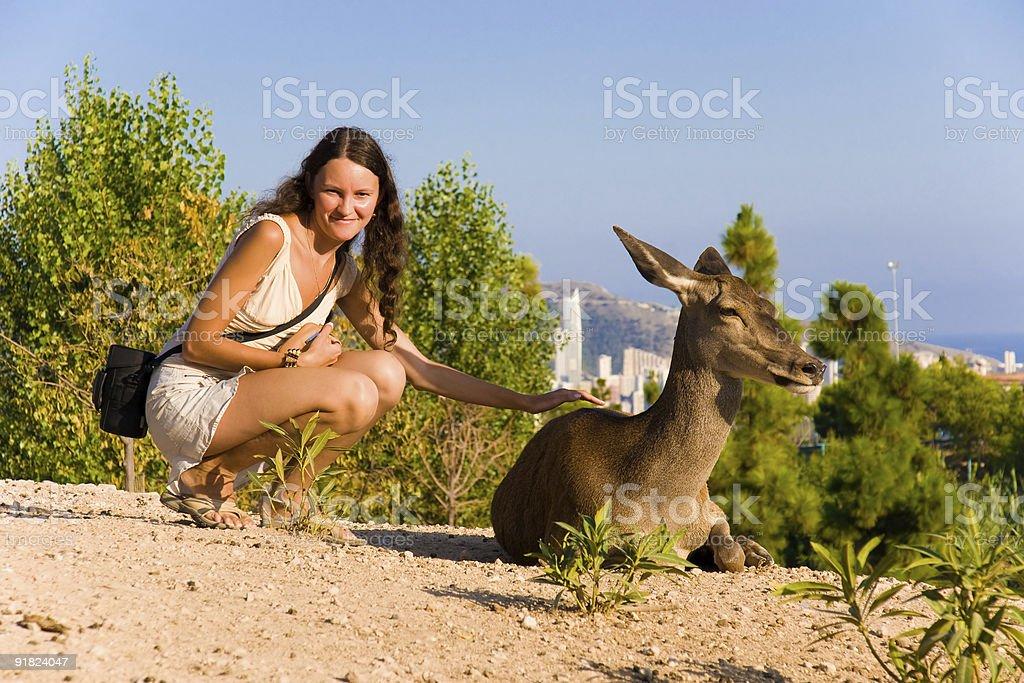 Human and nature royalty-free stock photo