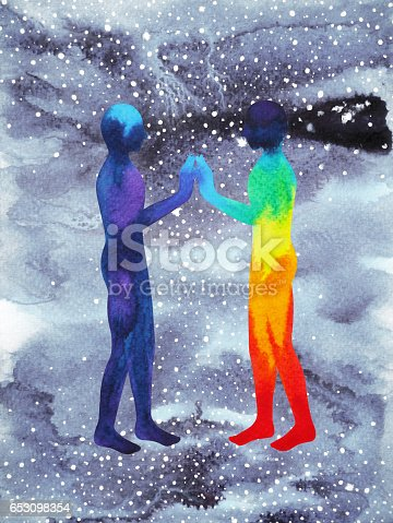 653098388istockphoto human and universe power, watercolor painting, chakra reiki, inspiration abstract thought, world, universe inside your mind 653098354