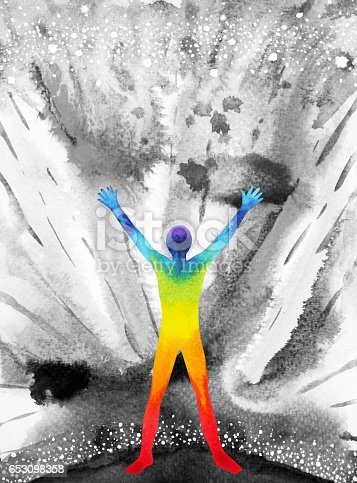 653098388istockphoto human and universe power, watercolor painting, chakra reiki, inspiration abstract thought, world, universe inside your mind 653098358
