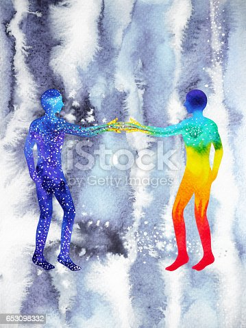 653098388istockphoto human and universe power, watercolor painting, chakra reiki, mastermind abstract thought, world, universe inside your mind 653098332