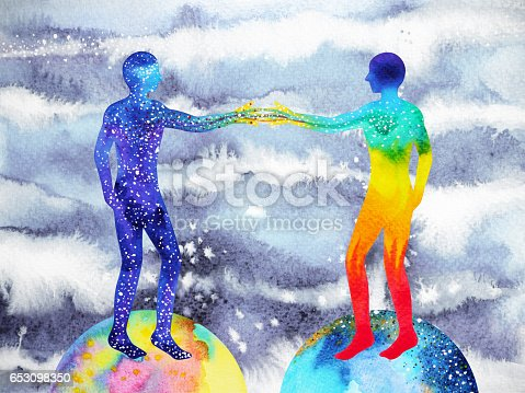 653098388istockphoto human and universe power, watercolor painting, chakra reiki, mastermind abstract thought, world, universe inside your mind 653098350