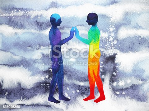 653098388istockphoto human and universe power, watercolor painting, chakra reiki, mastermind abstract thought, world, universe inside your mind 653098356
