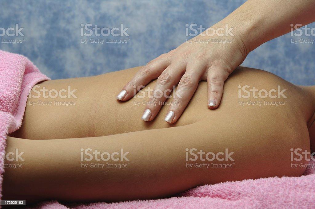 Human back royalty-free stock photo