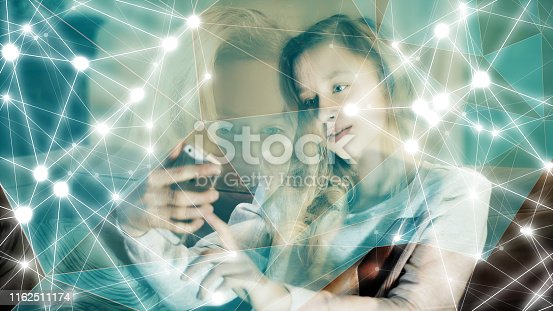 851960142 istock photo Human biometric facial authentication security protection 1162511174