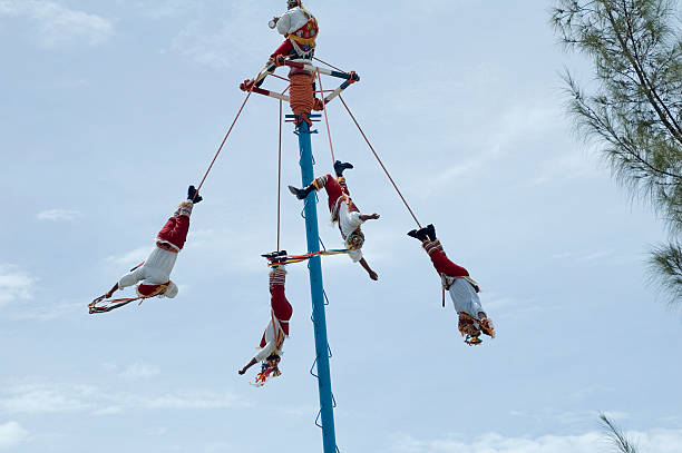 Human Birds Men performing dance veracruz stock pictures, royalty-free photos & images