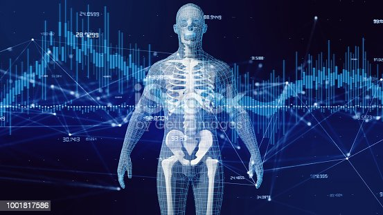 istock Human body and communication network concept. 1001817586