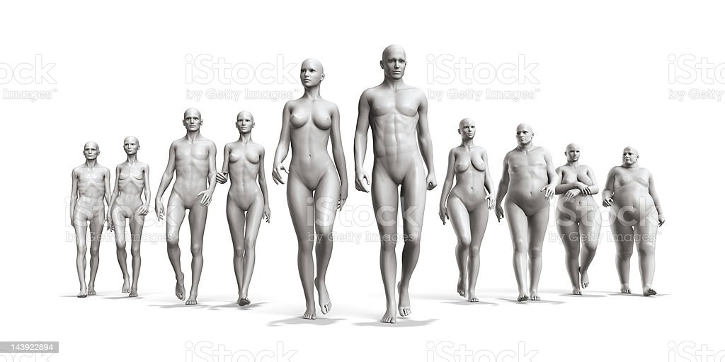 Human body diversity stock photo